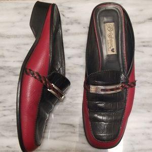 Brighton JODI Leather Slip On Mules Size 9